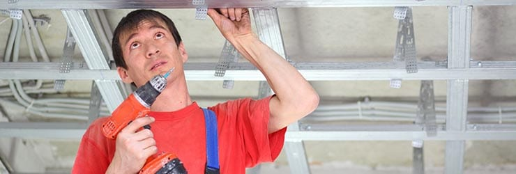 gyproc plafond plaatsen kosten